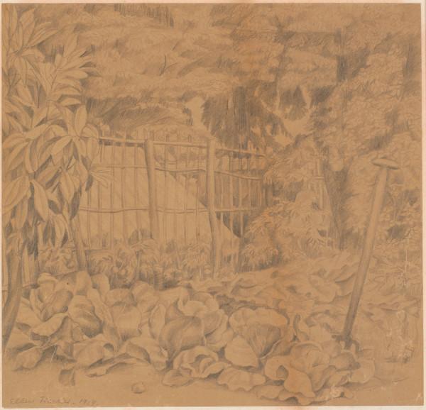 Fra Ellen og Adam Fischers have, Arcueil, 1919