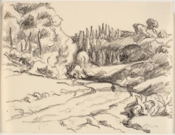 Vej gennem et landskab. Sydfrankrig. (Noyons), 1889-1966