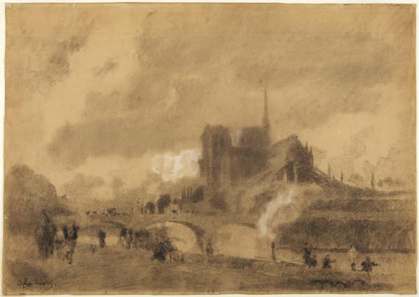 Notre-Dame de Paris et le pont de l'Archeveche