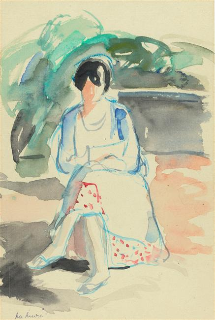 Jacqueline dessinant