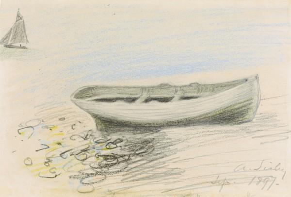 ETUDE DE BATEAUX September 1897 pastel and pencil on paper 12.2 by 19cm