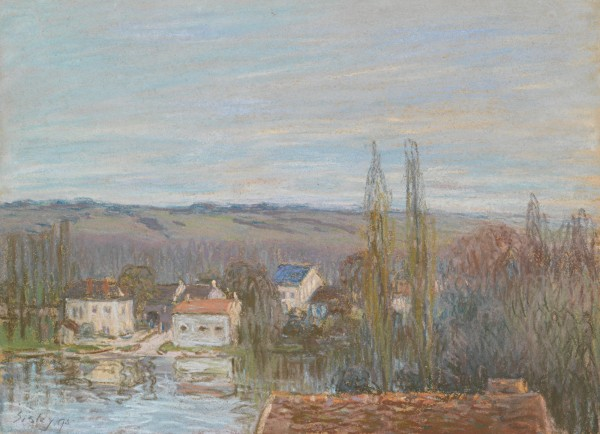 L'ABREUVOIR DE MARLY Pastel on paper 30.3 by 40.7 cm Executed in 1895.