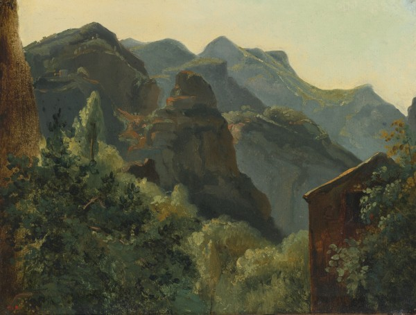 In the Pyrenees mid-19th oil on paper laid on canvas 31.59x39.68 см portland art museum.jpg