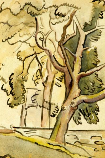 trees, watercolor, 1943 22 1-4x 18 1-4.jpg