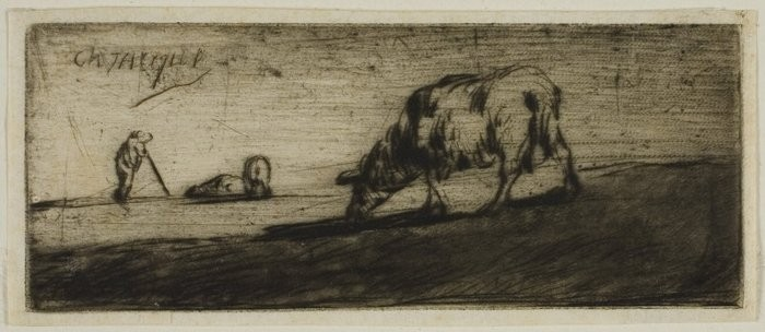 A Sheep Grazing, 18491