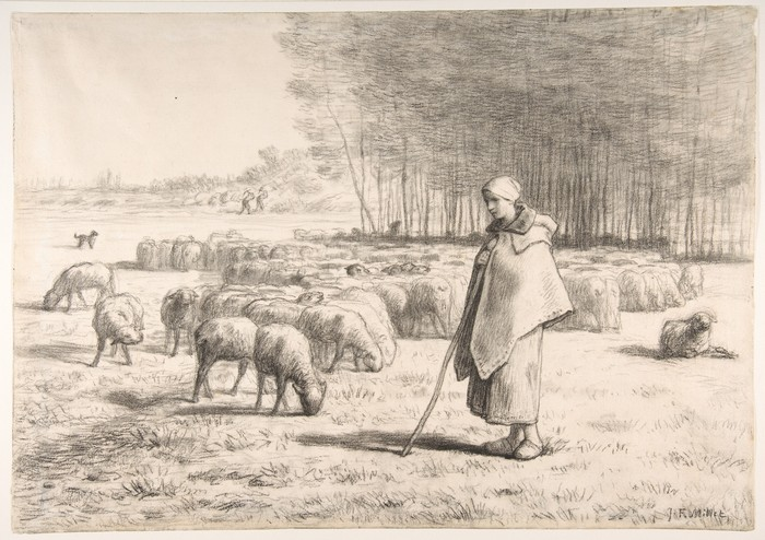 A Shepherdess with Her Flock1
