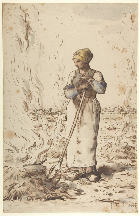 A Woman Burning Weeds1