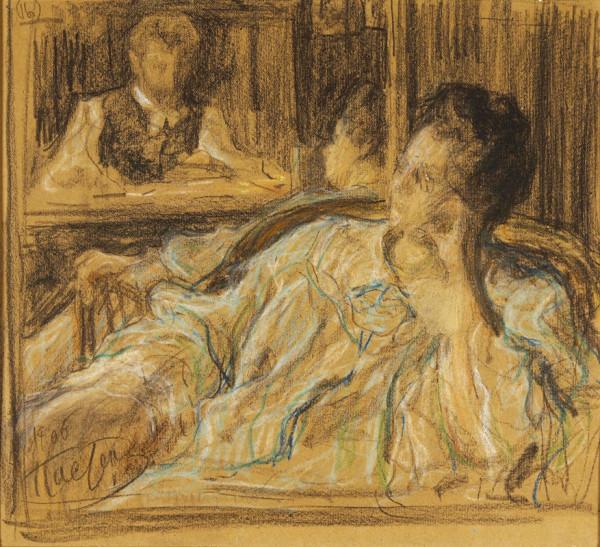 Автопортрет с женой Розалией Исидоровной (урожденной Кауфман). 1906..jpg