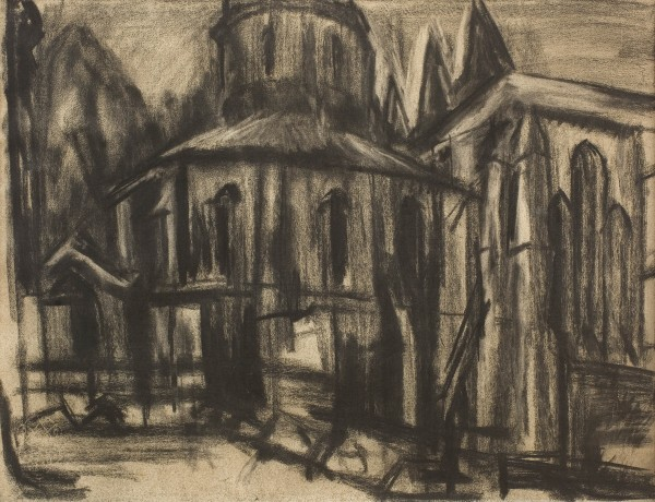 Jerusalem 1924  Charcoal and chalk 58.7 x 80.3 cm pc.jpg