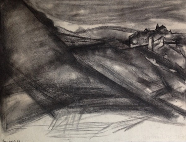 Ronda Landscape 1954  Charcoal on paper 48.3 x 62.2 cm pc.jpg
