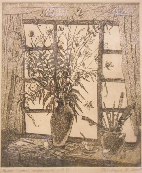 Букет (из серии Окно), 2008. Бумага, офорт, акватинта. Мурманский областной художественный музей1.jpg