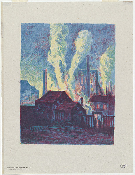 Usines de Charleroi or Hochofen [Charleroi factories or Blast-furnaces] from Pan, vol 4, 1898