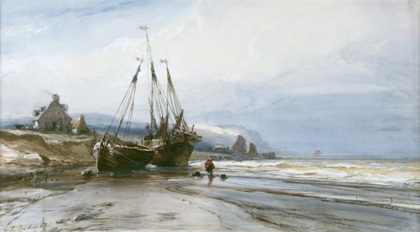 Fishing Boats  1862 Watercolor Heightened With White And Gum On Cream Wove Paper 19.5 x 34.5 cm Walters Art Museum.jpg