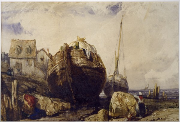 Fishing Boats 1836 watercolor and graphite underdrawing on wove paper 25.7 x 37.8 cm Walters Art Museum, Baltimore, USA.jpg