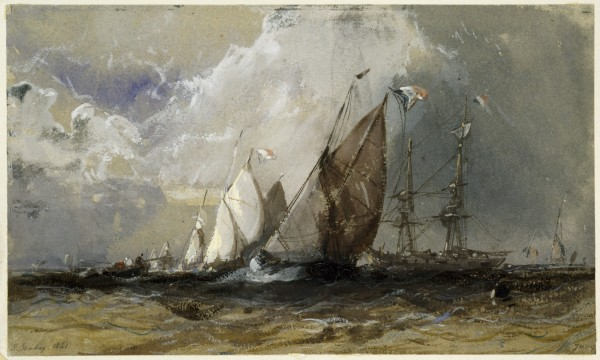 Fishing Boats beating to Windward 1841  Watercolour 14x23,5 cm V&A Images.jpg