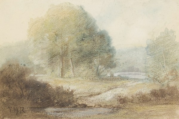 Dans la Forêt de Barbizon, circa 1864 Ascribed to  Pastel and watercolor on paper 30.5 x 43.2 cm pc.jpg