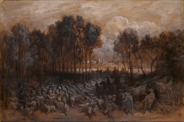 Le Rassemblement des troupeaux dans le bois de Boulogne, 1870.jpg