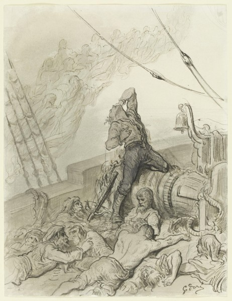 The Rime of the Ancient Mariner; And never a saint took pity on my soul in agony 1875 pen and ink 12x9.25 in © Victoria and Albert Museum, London.jpg