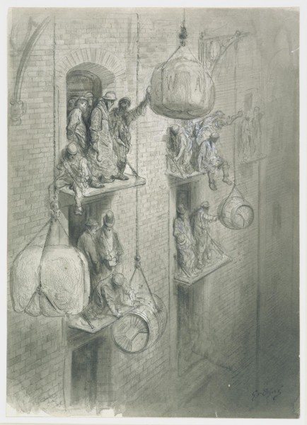 Warehousing in the City 1869-72 Pen and ink wash with chinese white 14.25x10.25 in  © V&A Images.jpg