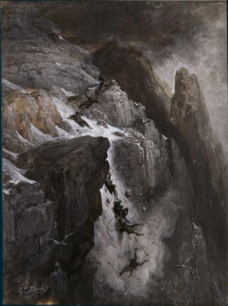 Catastrophe au Mont Cervin Dessin de Gustave Doré, 1865..jpg