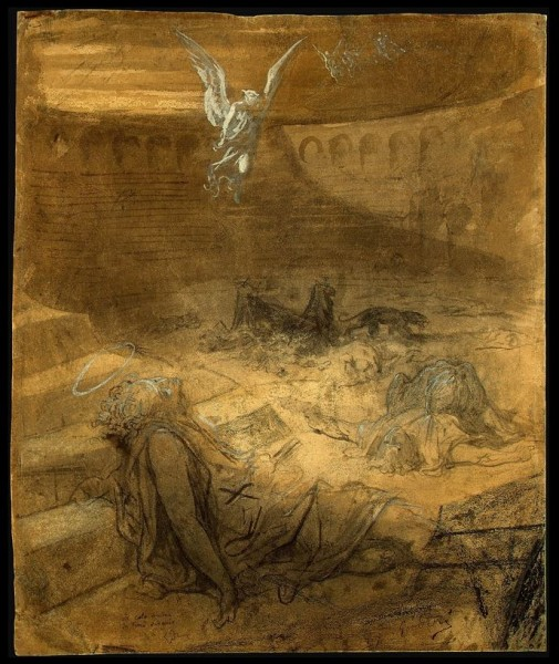Christian Martyrs 1869-1871     black chalk and brown washes, heightened with white, on wove paper 60.9 x 50.1 cm nga.JPG