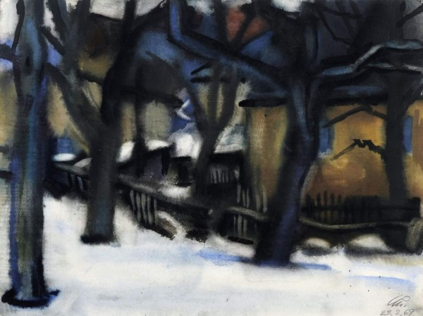 Winter in Karsdorf. 1969.Aquarell 36,8 x 48,7.jpg