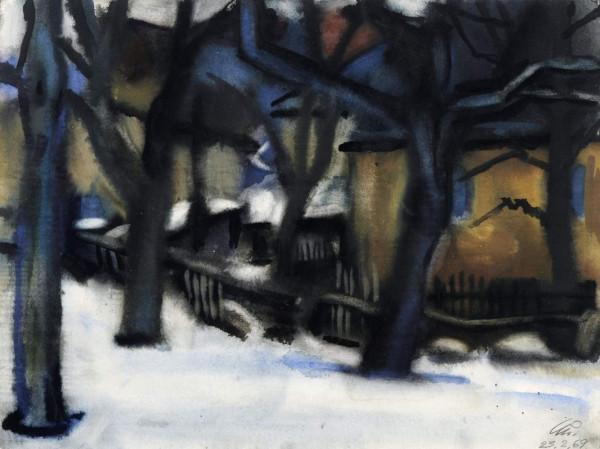 Winter in Karsdorf. 1969.Aquarell 36,8 x 48,7.jpg