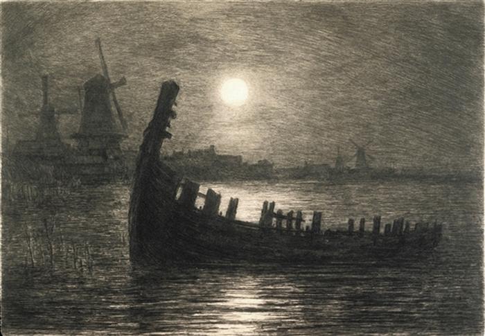 Moonlight on the Biesboch