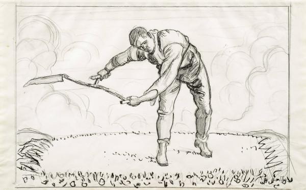 Der Mäher 1909 Bleistift und Tusche auf Papier 36 x 58 cm pc.jpg
