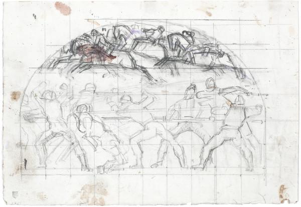 Etude de composition pour La Bataille de Morat 1915-1917 Crayon de graphite et traces de gouache sur papier Fabriano 253 x 365 mm MAH.JPG
