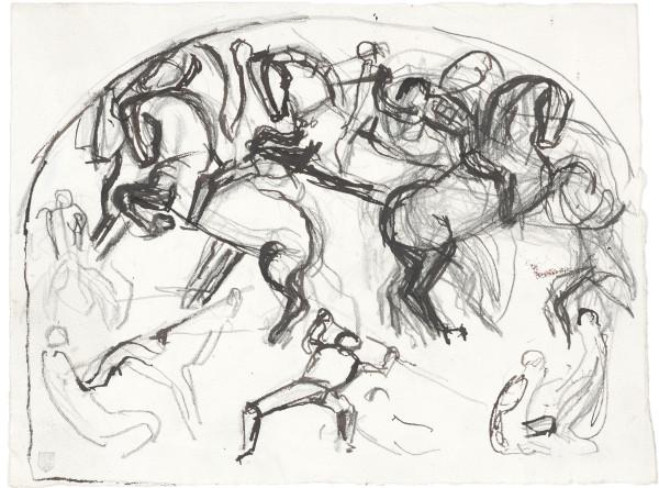 Etude de composition pour La Bataille de Morat 1915-1917 Plume et encre brune, crayon de graphite sur papier Fabriano 197 x 265 mm MAH.JPG