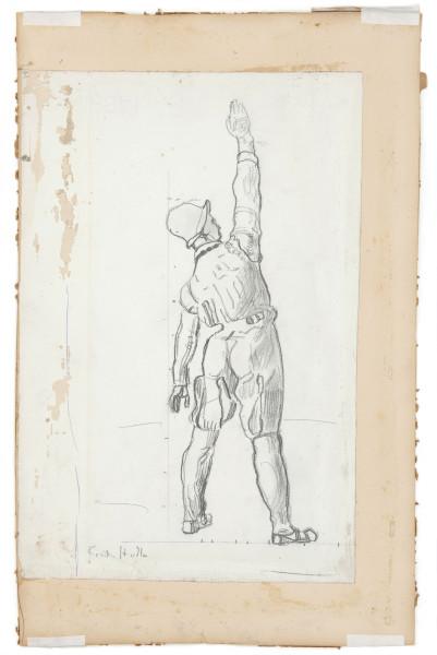Etude de figure pour pour L'Unanimité 1911-1913 crayon de graphite sur papier 420 x 225 mm MAH.JPG