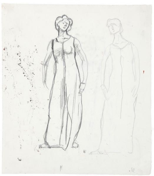 Etude de figure pour Regard dans l'infini 1913 - 1916 crayon de graphite sur papier 438 x 384 mm MAH.JPG