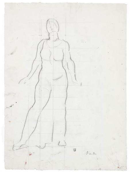 Etude de figure pour Regard dans l'infini 1913 - 1916 crayon de graphite sur papier 448 x 325 mm MAH.JPG