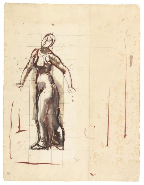Etude de figure pour Regard dans l'infini 1913-1916 Gouache et rehauts d'huile sur papier 522 x 252 mm MAH.JPG