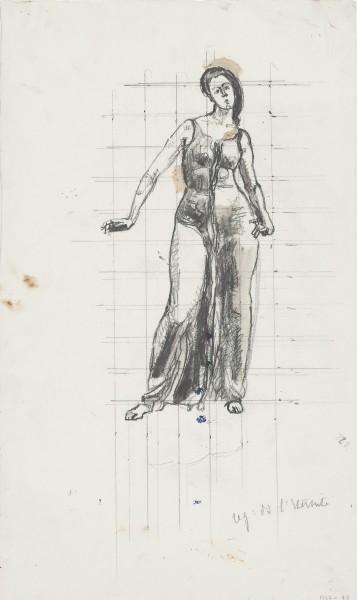Etude de figure pour Regard dans l'infini 1915-1916 crayon de graphite, gouache et aquarelle sur papier  431 x 263 mm MAH.JPG