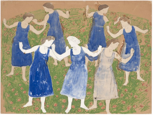 Etude pour Floraison vers 1917 Crayon de graphite, pastel, gouache, huile, papiers découpés et collés sur carton beige 473 x 625 mm MAH.JPG