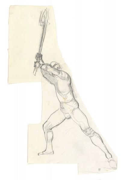 Etude pour La Bataille de Morat 1915-1917 crayon de graphite sur papier Fabriano 340 x 270 mm MAH.JPG
