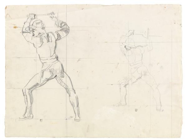 Etude pour La Bataille de Morat 1915-1917 crayon de graphite sur papier Fabriano 402 x 530 mm MAH.JPG
