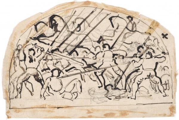 Etude pour La Bataille de Morat 1915-1917 Plume et encre de Chine, crayon de graphite sur papier calque 220 x 329 mm MAH.JPG