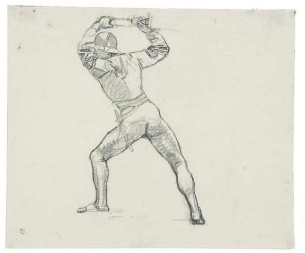 Etude pour La Bataille de Morat, 1915-1917 crayon de graphite sur papier Fabriano blanc 360 x 430 mm MAH.JPG