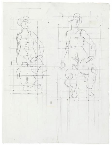 étude pour L'Heure sacrée, entre 1907 et 1911 crayon de graphite sur papier blanc 435 x 330 mm MAH.JPG