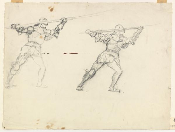 études pour La Bataille de Morat 1915 - 1917 Crayon de graphite sur papier Fabriano 440 x 582 mm MAH.JPG