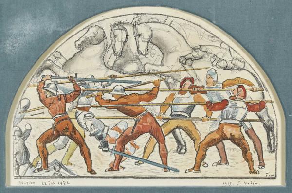 Schlacht von Murten 22. Juli 1476 Farblithografie, 36x55 cm pc.jpg
