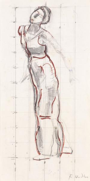 STUDIE ZU BLICK IN DIE UNENDLICHKEIT Bleistift und Öl auf Papier 36 x 18 cm.jpg
