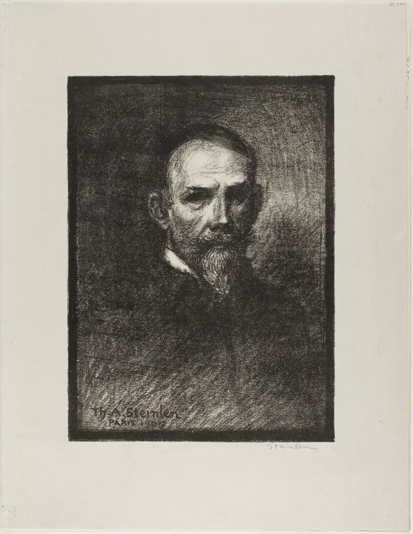 Steinlen, Frontal View, Head to the Right, February 1905