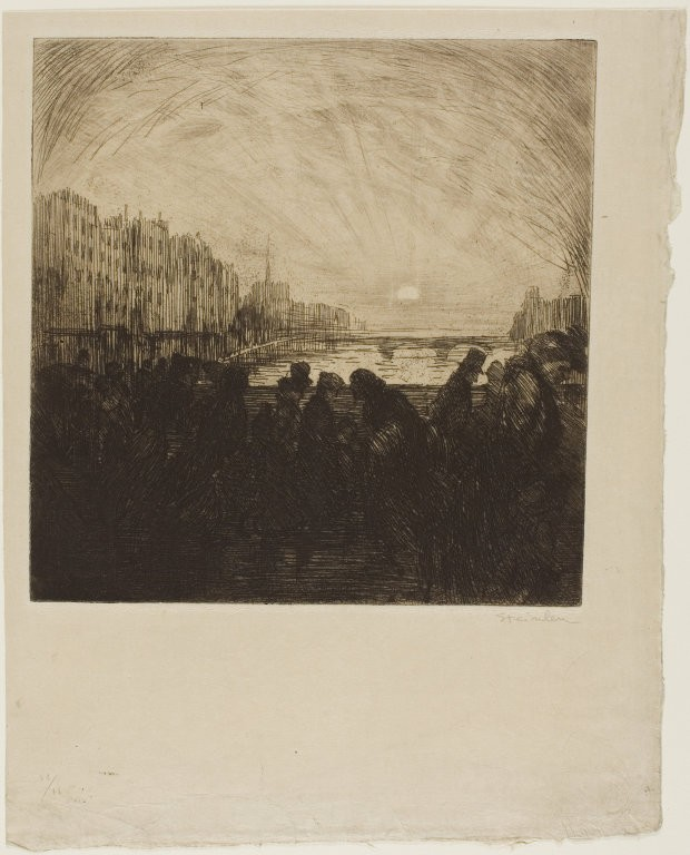 Effect of the setting sun, February 1902