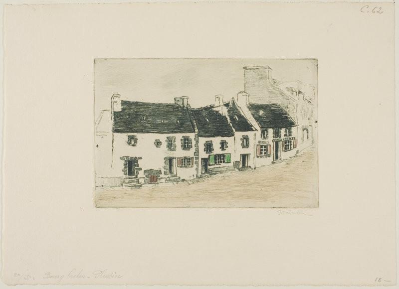 Breton Market Town, Plestin, 1902