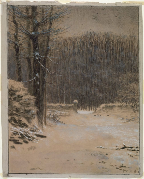 Entrance to the Forest at Barbizon in Winter 66-671
