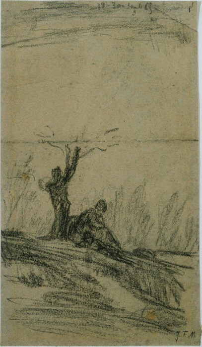 Figure Seated Under a Tree1